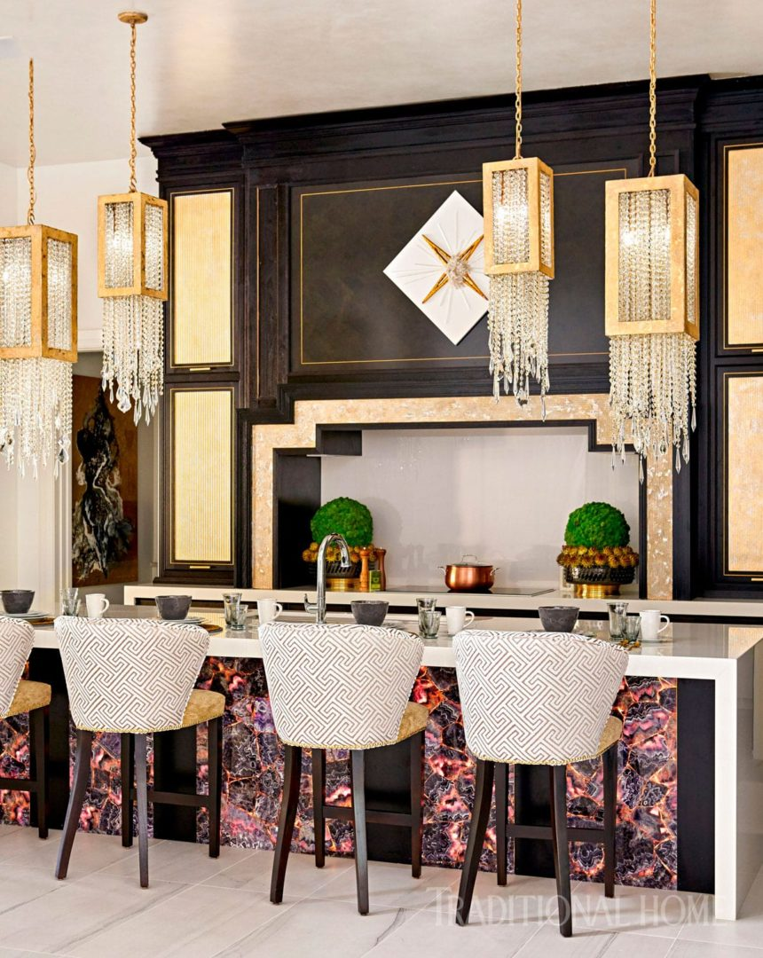 Kitchen By Donna Moss At The Dallas Designer Showhouse Courtesy Of Traditional Home