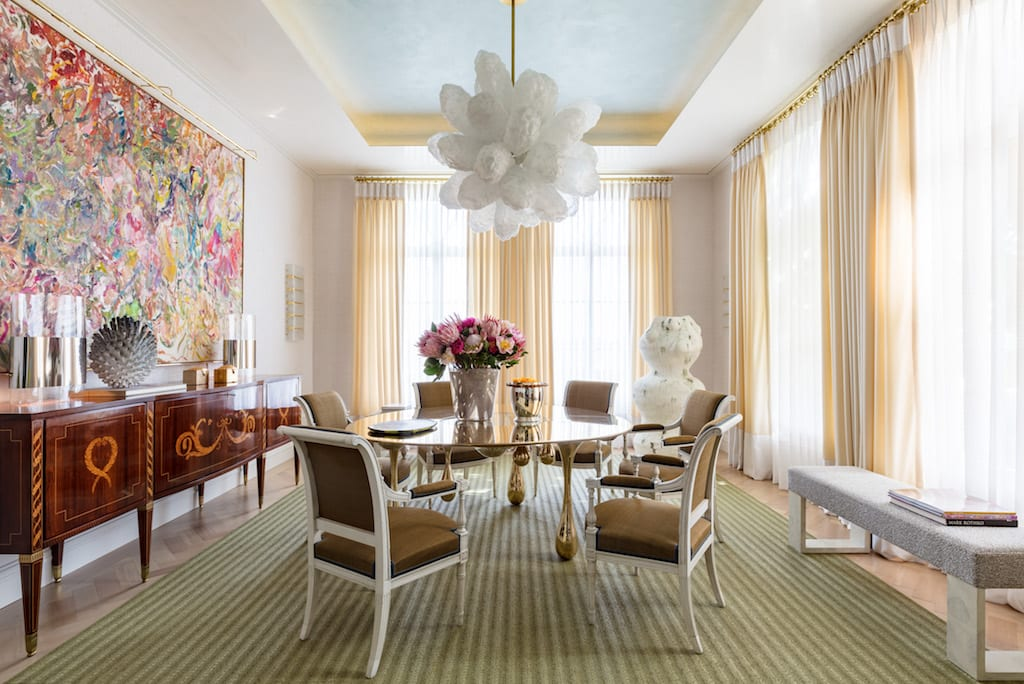 David Scott Creates Art Filled Dining Room For Kips Bay Palm Beach