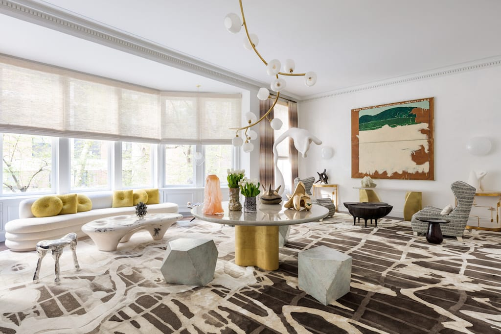 Jeff Lincoln Creates Futuristic Living Room at Kips Bay NYC ...