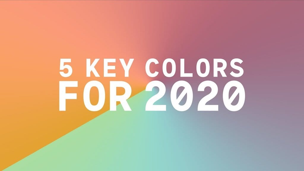 Coloro and wsgn announce five key trending colors for 2020 - Color of the year 2020 ...